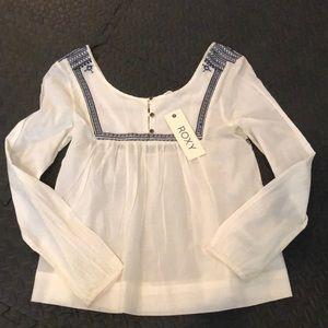Roxy white longleeve Westwood boho blouse. New!